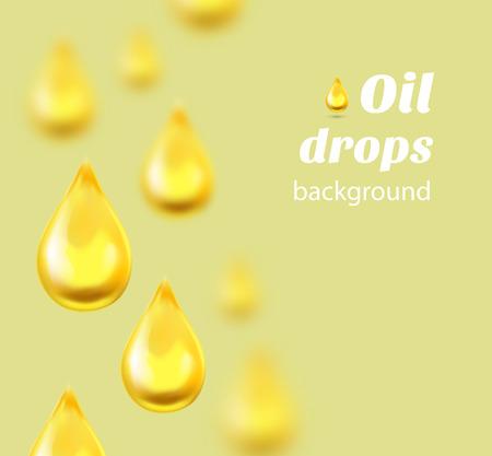 Oliedruppels achtergrond met plaats voor tekst. Vector illustratie Stock Illustratie