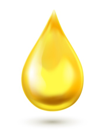 fioul: Goutte d'huile isolé sur fond blanc Illustration