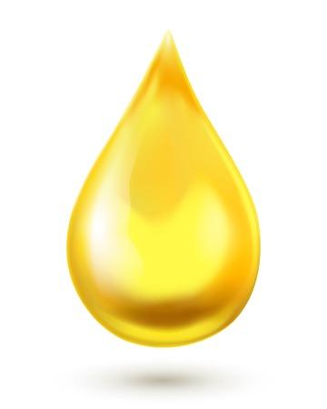 Olie druppel op een witte achtergrond Stock Illustratie