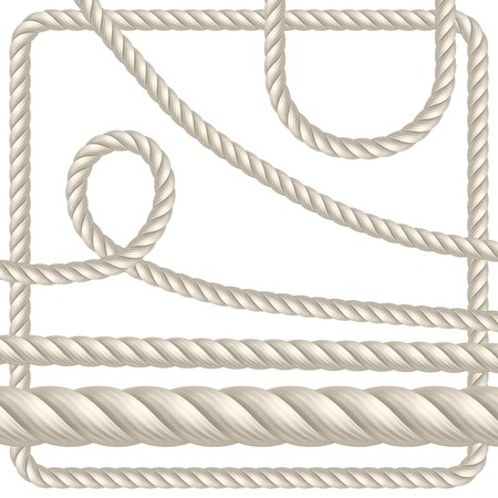 rope vector: Rope of different shapes. Seamless vector