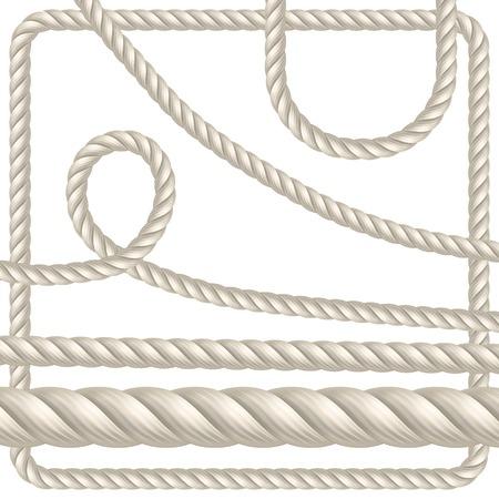 Seil in verschiedenen Formen. Nahtlose Vektor-