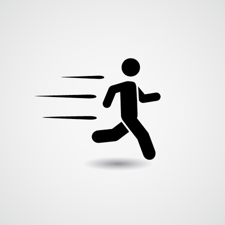 Running icon. Vector Illustration Illustration
