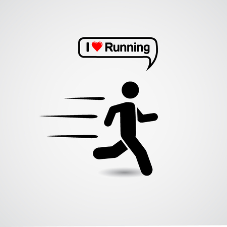 Running icon with text - I love running
