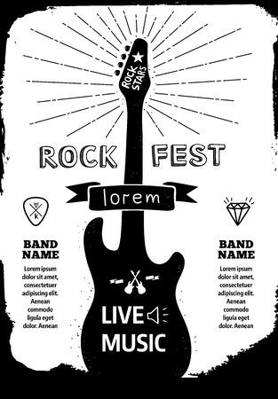 rock logo: Rock festival poster.