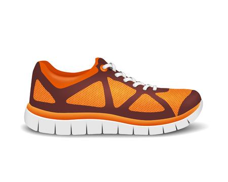 Realistische lichte sportschoenen voor hardlopen. Vector illustratie Stock Illustratie