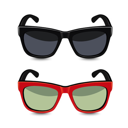 Realistische zonnebril. Vector illustratie Stock Illustratie