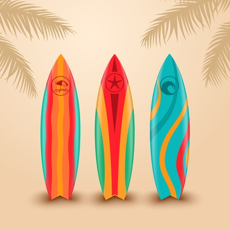 surfing: Surf boards with different design