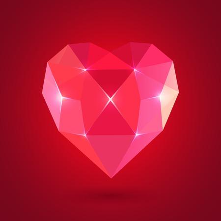 heart diamond: Diamond heart shape, vector format for valentine.