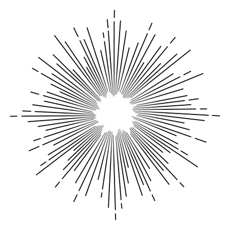 Vintage monochrome star burst. Vector Illustration