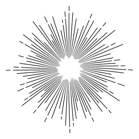 Vintage monochrome star burst. Vector Vettoriali