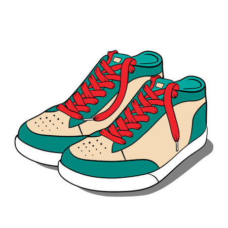 sneakers: Sport shoes, sneakers. Vector illustration