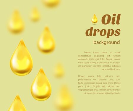 oil drops: Oil drops background with place for text. Vector illustration Illustration