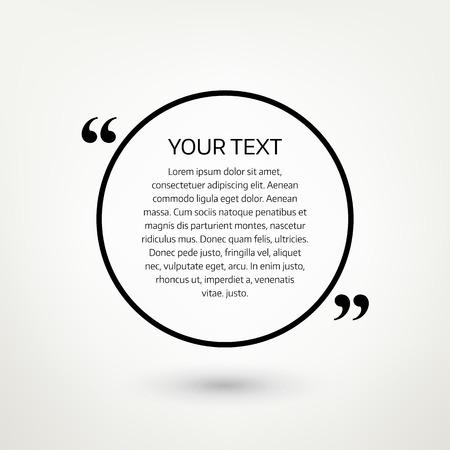 text bubble: Quote text bubble