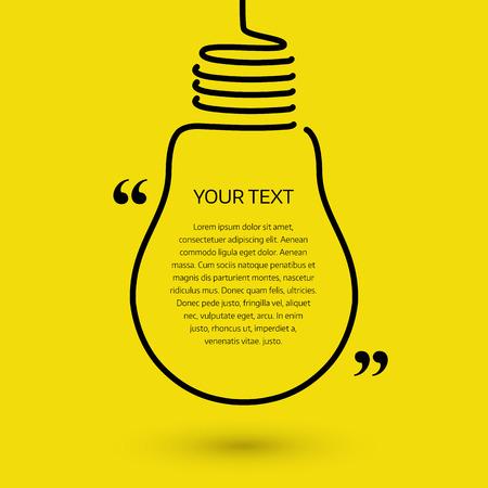 Lightbulb text bubble, concept idea