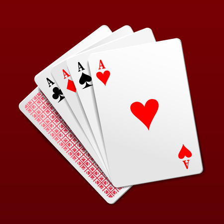 aces: Four aces playing cards. Photorealistic vector illustration