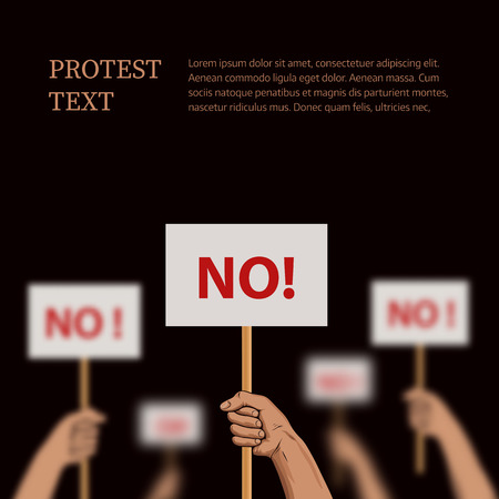 disagreement: Vector illustration on the theme protest, disagreement
