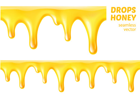 Drops honey. Seamless vector