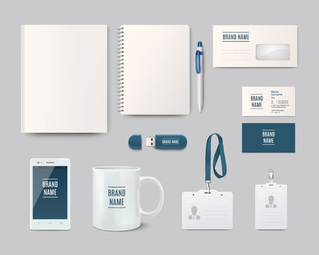 display stand: Modern corporate identity template design. Vector illustration