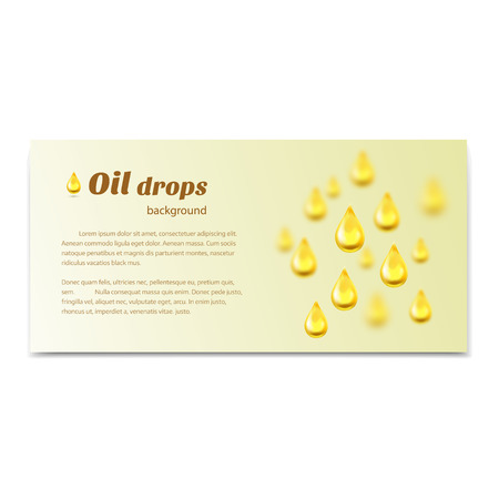 oily: Oil drops background with place for text. Vector illustration Illustration
