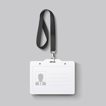 personalausweis: id Abzeichen mit Lanyard. Vektor-Illustration Illustration