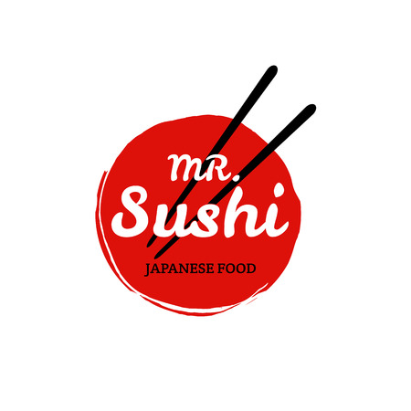 asian culture: Sushi logo icon
