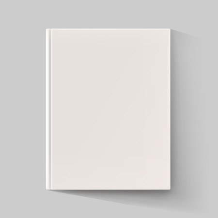 shadow: Blank book cover with long shadow. Vector illustration