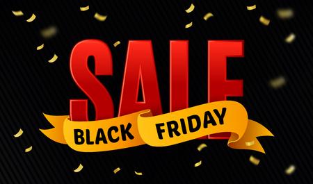 thanksgiving day symbol: Venerd� nero modello di vendita di progettazione. Vendita scritta su sfondo coriandoli. Bandiera di vendita. Illustrazione vettoriale Vettoriali