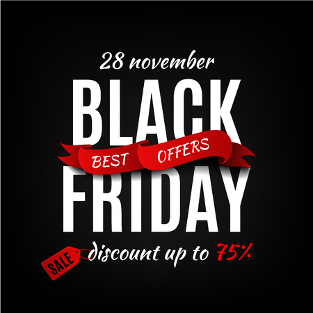 schwarz: Black Friday Design-Vorlage. Black Friday banner