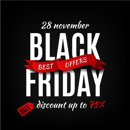 Black friday sale design template. Black friday banner