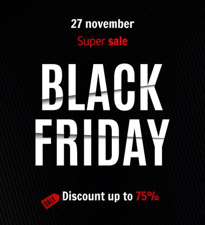 Black friday sale banner  イラスト・ベクター素材