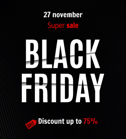Black friday sale banner Ilustracja