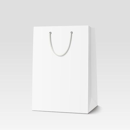 Leeg Shopping Bag voor reclame en branding Stock Illustratie