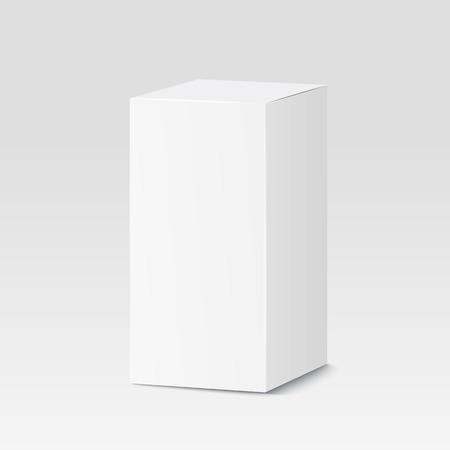 carton: Caja de cartón en el fondo blanco. Blanco recipiente, empaque. ilustración vectorial Vectores