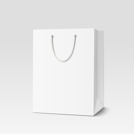 Shopping paper bag. Illustration