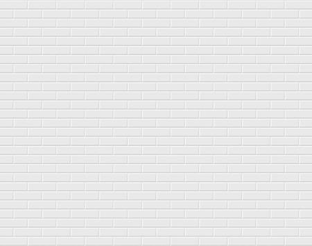 Witte bakstenen muur. Vector Illustratie