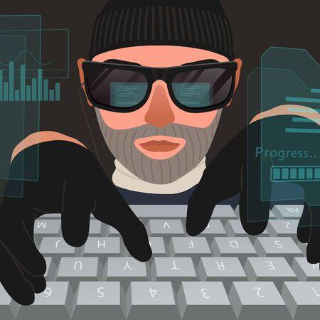 Hacker attack computer system