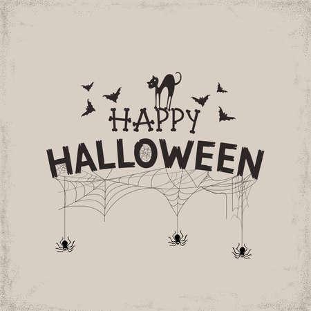 Happy Halloween Text Banner. Vector illustration