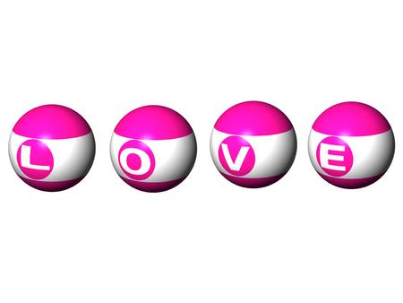 bola de billar: I Love pool ball design.