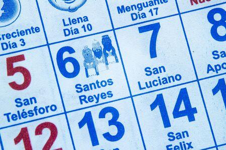 Wisemen Jan 6 calendar. The biblical Magi, also referred to as the Wise Men or Kings in spanish Reklamní fotografie