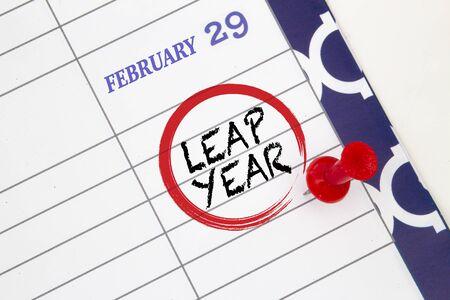 Schließen Sie einen Kalender am 29. Februar in einem Schaltjahr