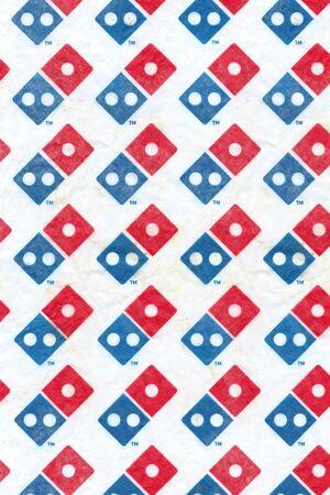 Domino's Pizza Wax Paper Food Basket Liner for desert snacks