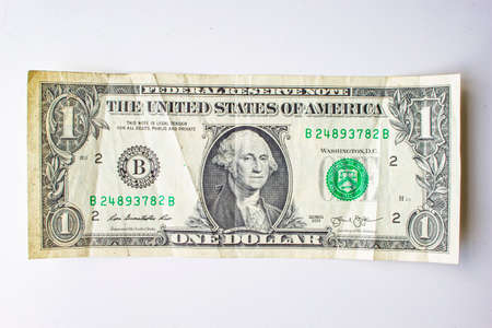 San Francisco, California, USA. June 22, 2020. An Old Front of the American One Dollar Bill
