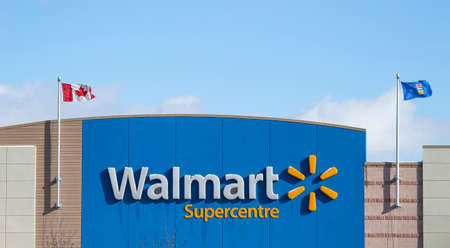 Calgary Alberta, Canada. Oct 17, 2020. Walmart an American multinational retail that operates a chain of hypermarkets, discount department stores, and grocery stores, from in Bentonville, Arkansas.