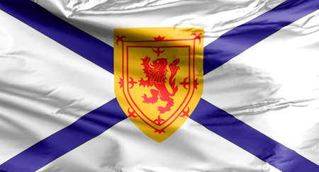 Nova Scotia Flag. A banner of the coat of arms of Nova Scotia, which were granted to the Scottish colony