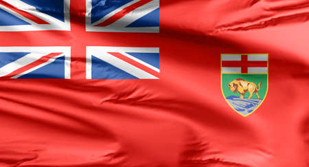 The flag of Manitoba consists of a Red Ensign defaced with the shield of the provincial coat of arms.