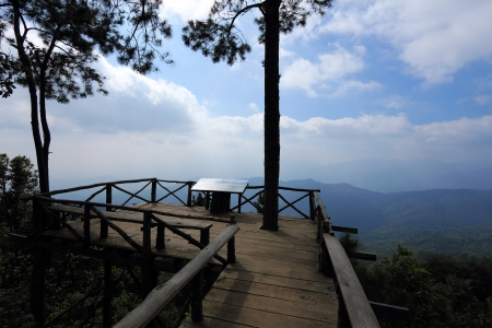 View point Doi Pha Hom Pok mountain photo