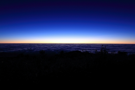 The sea of fog before sunrise at Doi Pha Hom Pok National Park  photo