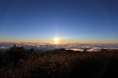 Sunrise at Doi Pha hom pok National Park photo