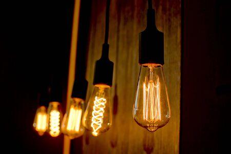 light bulbs shining