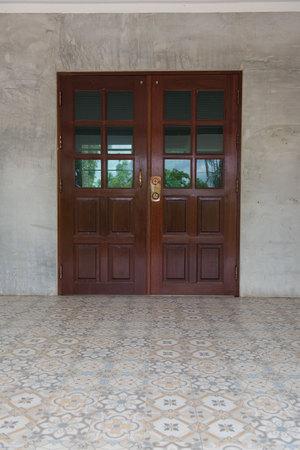 twain: Double doors brown wooden closed